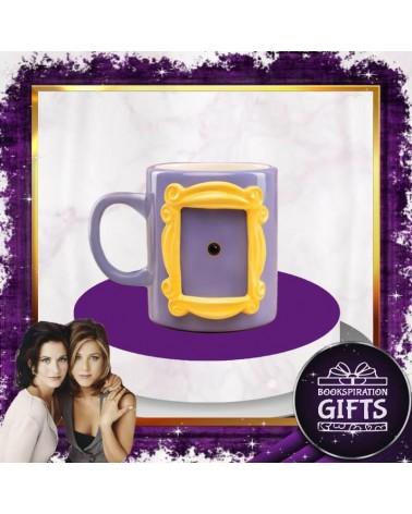 3D лилава Чаша с Рамка Приятели
