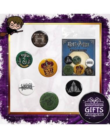 Комплект 6 броя значки Хари Потър