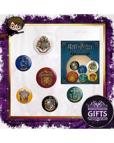Комплект 6 броя значки Хогуортс, Хари Потър