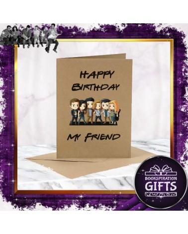Крафт картичка за рожден ден Приятели