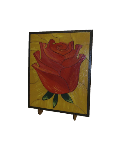 Wood Art Puzzle Rose