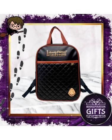 Черна кожена лукс раница Хари Потър