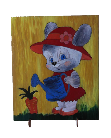 Wood Art Puzzle Bunny