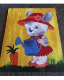 Wood Art Puzzle Bunny