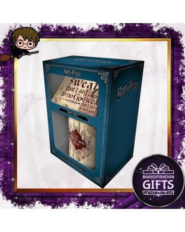 Комплект Хитроумната карта с чаша, подложка и ключодържател, Хари Потър