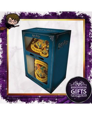 Комплект Хогуортс с чаша, подложка и ключодържател, Хари Потър