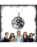 Targaryen Three Headed Dragon Necklace, Game of thrones
