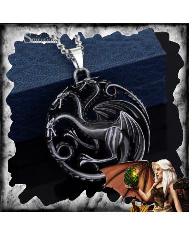 Targaryen Three Headed Dragon Necklace, Game of thrones
