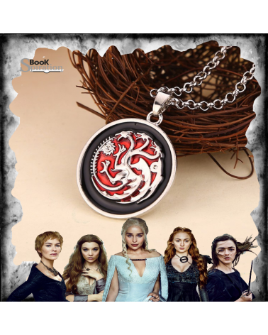 Circle Red Targaryen Necklace, Game of thrones