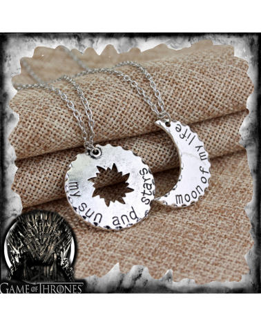 Two necklace set My sun & my stars/Moon of my life, Game of thrones