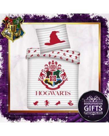 Двулицев Спален бял комплект Хогуортс, Хари Потър