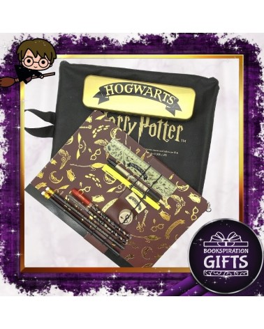 Ученически Лукс комплект с моливник и тетрадка Хогуортс, Хари Потър
