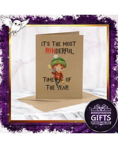Коледна Крафт картичка The Most Ronderful Time, Хари Потър