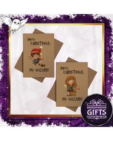 Коледна Крафт картичка Merry Christmas My Wizard, Хари Потър