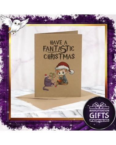 Коледна Крафт картичка Фантастични животни