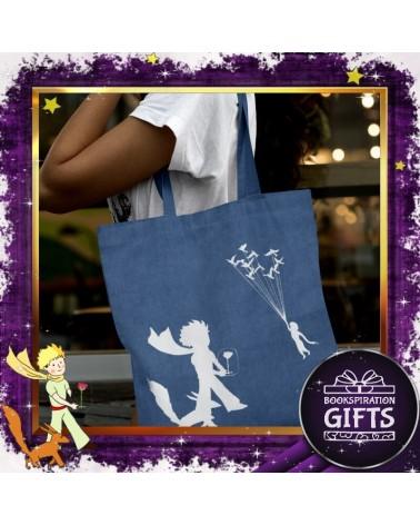 Текстилна дънкова чанта Малкият принц