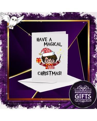 Бяла коледна картичка Have a Magical Christmas, Хари Потър