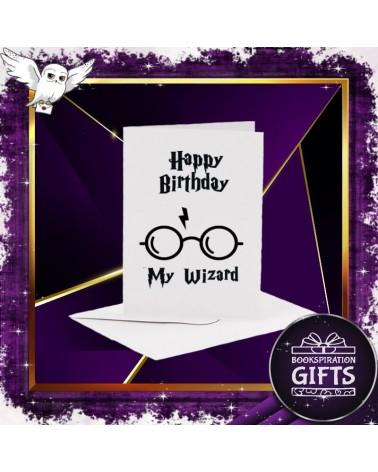 Бяла картичка за рожден ден Хари Потър