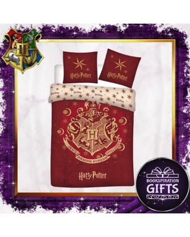 Спален червен комплект Хогуортс с две калъфки, Хари Потър