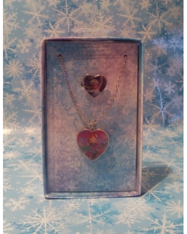 Gift Set Necklace and Ring Frozen Disney