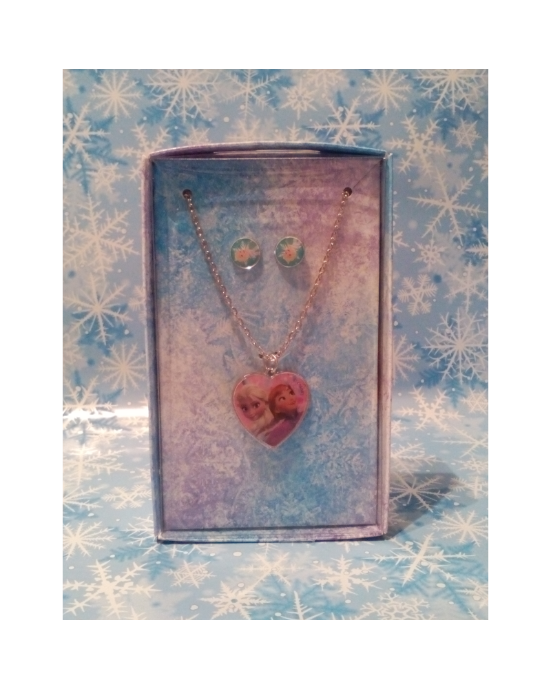 Gift Set Necklace and Earings Frozen Disney