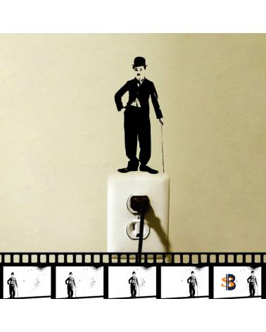 Charlie Chaplin Wall Vinyl Sticker