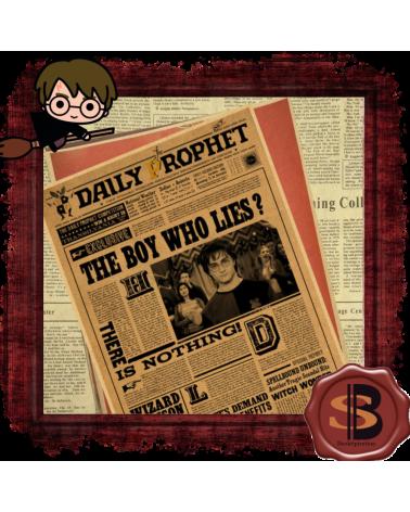 """Плакат Магьосническият вестник """"Пророчески вести"""", Хари Потър"""