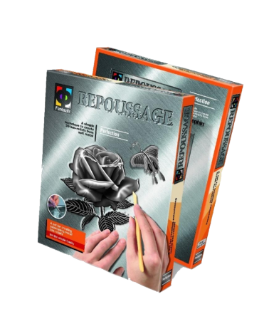 """Креативен комплект за 3D изображение върху метал """"Repoussage"""", Роза"""