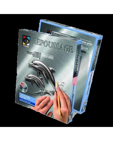 "Креативен комплект за 3D изображение върху метал ""Repoussage"", Делфини"