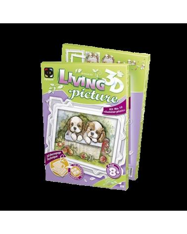 Креативен комплект 3D картина Пикник с кученца