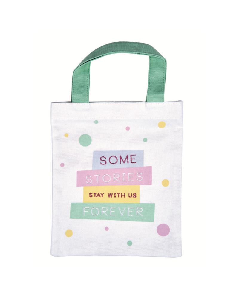 Fabric bag for books - Owl