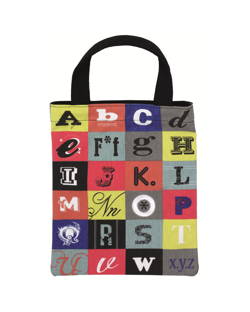 Fabric bag for books - Alphabet