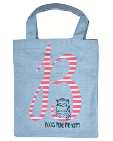 Текстилна чанта за книги - Книгите ме правят щастлив
