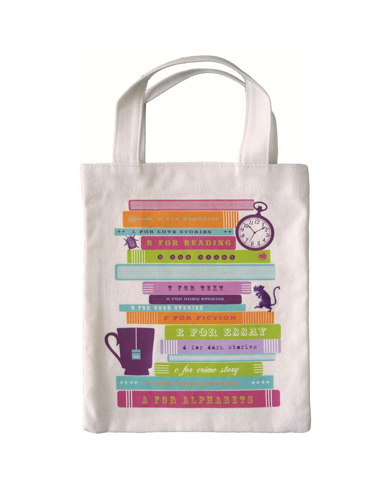 Текстилна чанта за книги - Книги