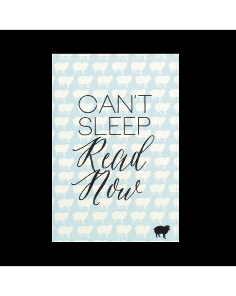 Текстилен калъф за книга - Can't sleep Read now