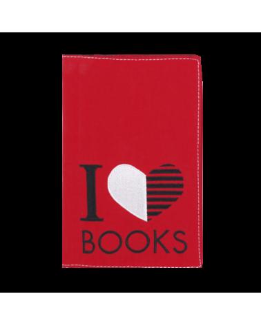 Текстилен калъф за книга - I love books