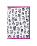 Текстилен калъф за книга - Бухал