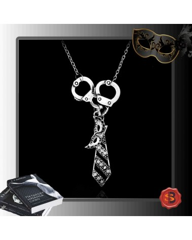 Necklace 3 charms 50 shades of Grey