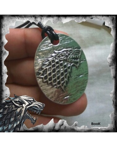 Stark Necklace leather, Game of thrones