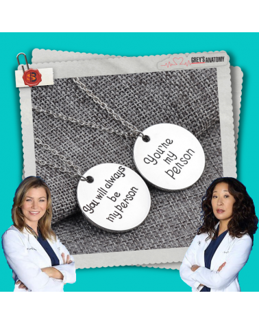 Set 2 necklaces You are my person, Grey's Anatomy