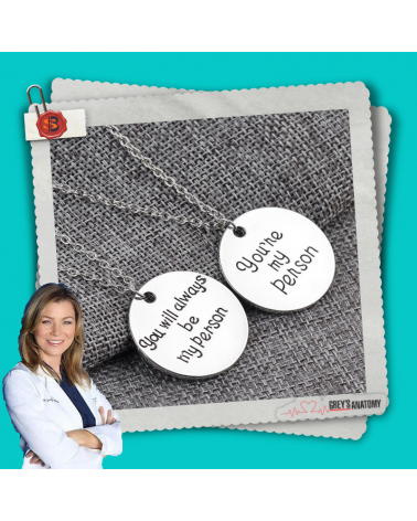 Necklace You are my person, Grey's Anatomy