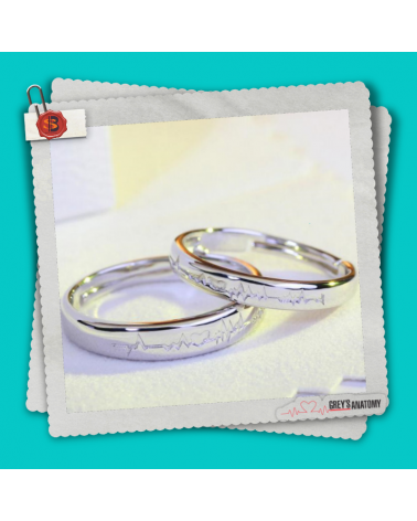 Set 2 Rings Heartbeat, Grey's Anatomy