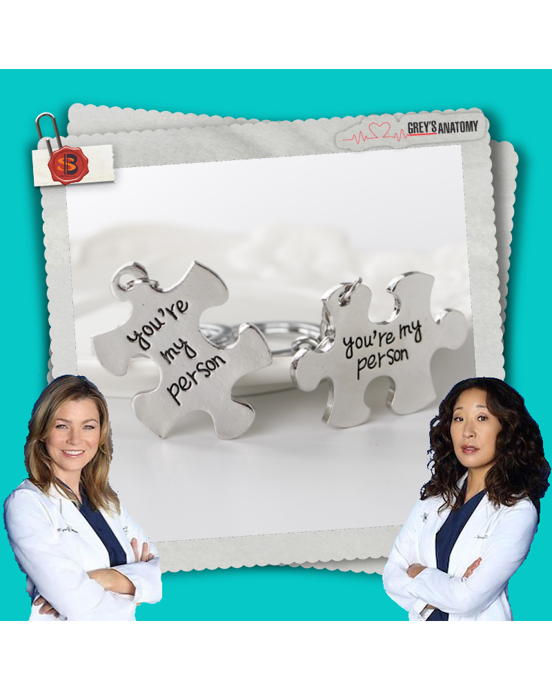 Keychain You are my person puzzle, Grey's Anatomy
