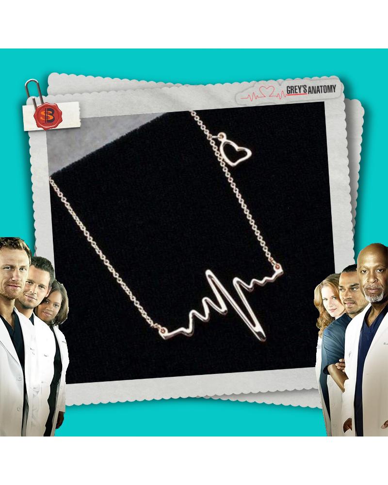 Necklace Heartbeat silver, Grey's Anatomy