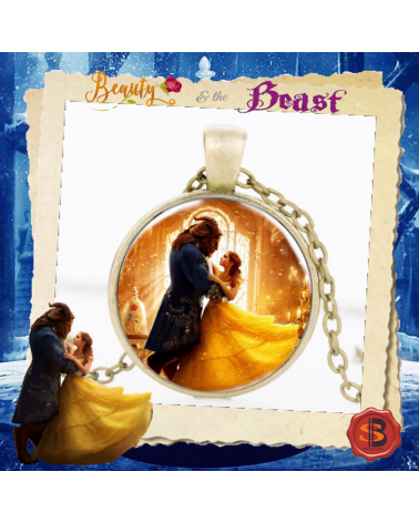 Beauty and the Beast Necklace Bronze