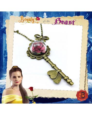 Колие ключ с роза, Красавицата и Звяра