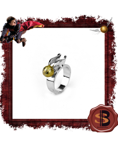 Golden snitch ring, Harry Potter
