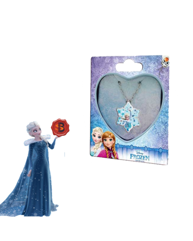 Children's necklace in a metal box heart Frozen Disney