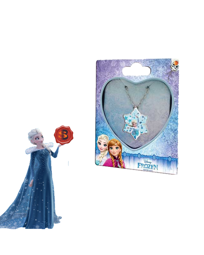 Children's necklace in a metal box heart Frozen Disney