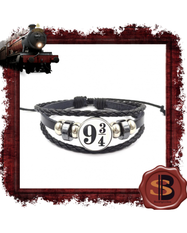 Leather Bracelet Platform 9 3/4, Harry Potter